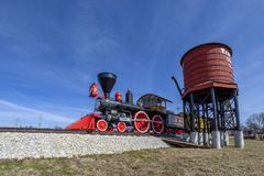 Old steam locomotive train Royalty Free Stock Photography