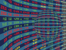 A Display Panel of Daily Stock Market Royalty Free Stock Photography