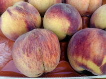 Display of Peaches, Crete, Greece Stock Images