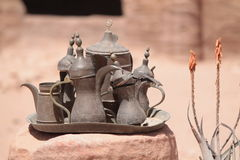 On display at Petra Royalty Free Stock Photo