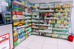 Display in pharmacy Royalty Free Stock Photo