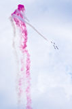 Display of polish team Bialo-czerwone Iskry on Radom Airshow, Poland Stock Photos