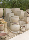 Display of pots for sale Royalty Free Stock Photos