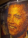 Display of the President Obama in Beads stock photography