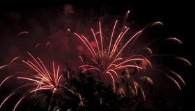 Display of pyrotechnics Royalty Free Stock Image
