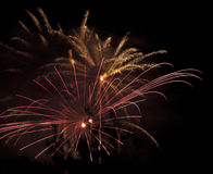 Display of pyrotechnics Royalty Free Stock Photo