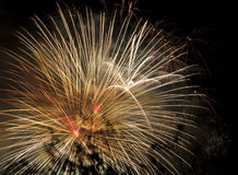 Display of pyrotechnics Royalty Free Stock Photos