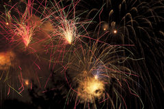 Display of pyrotechnics Stock Photo