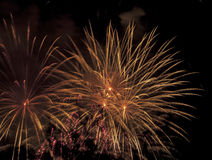 Display of pyrotechnics Stock Image