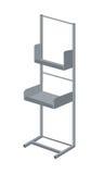 Display rack exhibitor vector