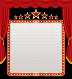Display on red stage Royalty Free Stock Photo