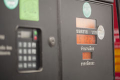 Display  refilling the car with a gas pump Royalty Free Stock Images