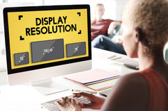 Display Resolution Screen Modern Technology Concept royalty free stock images