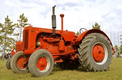 Display of restored old Case tractor Royalty Free Stock Image