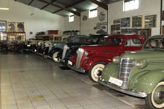 Display Room with Vintage Chevrolet Motorcars Stock Photos