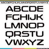 Display sans serif font Stock Photos