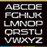 Display sans serif font Stock Images