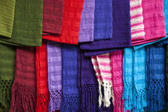 Display of scarfs Stock Photography