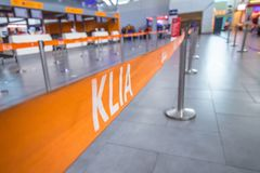 Check in place at departure hall royalty free stock photo