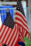 Display of small American flags Royalty Free Stock Image
