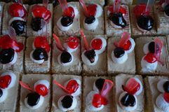 Small colourful cakes, Uzbekistan stock photography