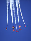 Display by the Snowbirds team at the Air Show event Stock Photo