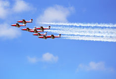 Display by the Snowbirds team at the Air Show, Gatineau, Canada stock photography