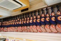 Display of Spanish Hams Stock Image