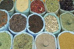 Display of Spices Royalty Free Stock Image