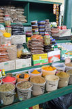 Display of spices of all colors on the spice. Market in Mombasa, Kenya stock images