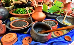 Display of Spices from Sri Lanka. Display of herbs and spices Stock Photos