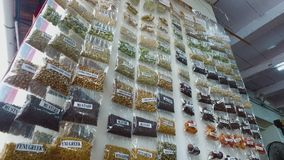 A display with spices