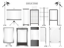 Display stand collection set Stock Images