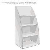 Display Stand with shelves. Stock Photos