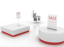 Display stand. S with sale signage Royalty Free Stock Image