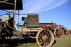 Display of Russell steam tractor at threshing show Royalty Free Stock Photography