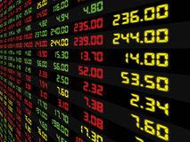 A Display of Daily Stock Market Stock Image