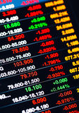 Display of Stock market quotes stock photography