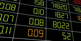 Display of Stock market. Royalty Free Stock Images