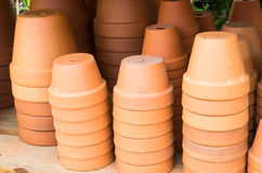 Display of terracotta planter pots Royalty Free Stock Image