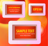Display text box design with rounded corners Stock Photos