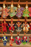 Display of traditional puppets at the street market, Mingun, Man. Dalay region, Myanmar Stock Photography