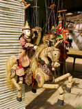 Display of traditional puppets at the street market, Mingun, Man Royalty Free Stock Photo