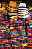 Display of traditional souvenirs at the market in Lima, Peru. Lima is the capital and the largest city of Peru Stock Image