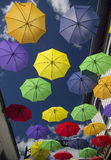 Display of Umbrellas Royalty Free Stock Images