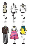 Display of various garments Royalty Free Stock Image