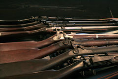 Display of vintage guns Royalty Free Stock Photos