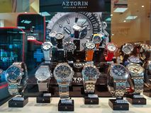Display of watches aztorin stock photos