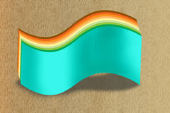 Display wave. The display wave board on wood background created by illustration royalty free illustration