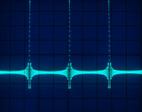 Display of Waveforms. Stock pictures of waveform displays correspondig to several electrical and electronic signal for analysis Royalty Free Stock Photos
